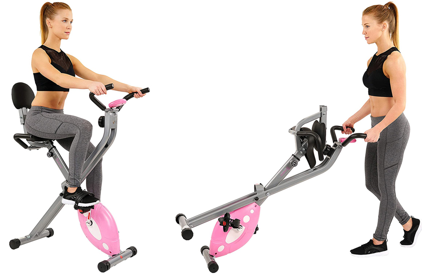Sunny Health & Fitness Magnetic Folding Recumbent Exercise Bike SF-RB1117