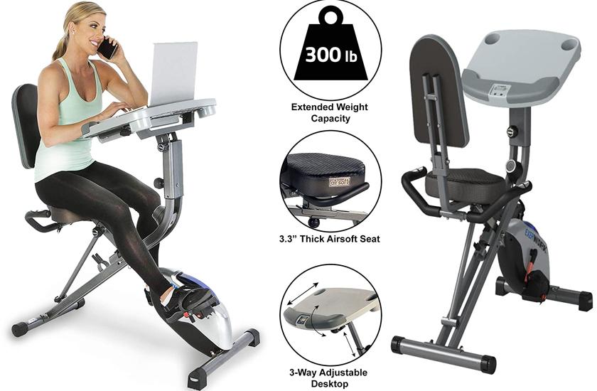 Exerpeutic ExerWorK 1000 Desk Folding Exercise Bike Review