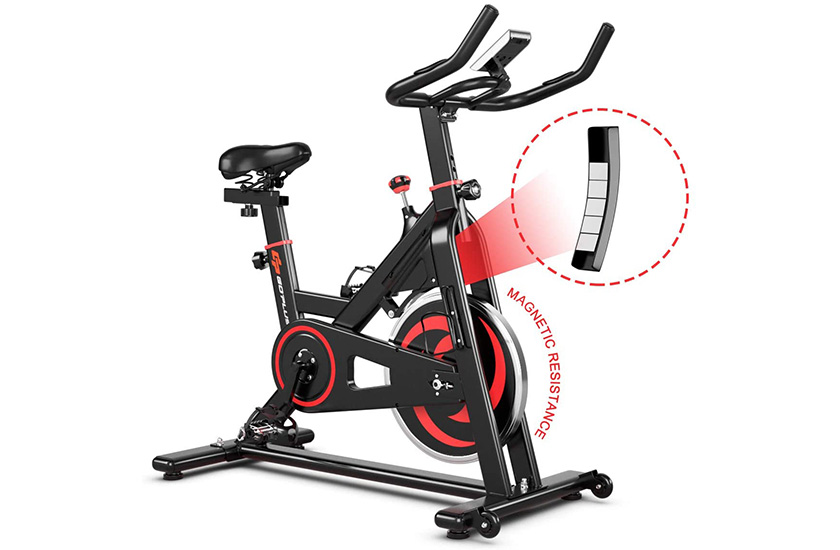 Goplus Exercise Magnetic w/LCD Monitor Indoor Cycling Bike